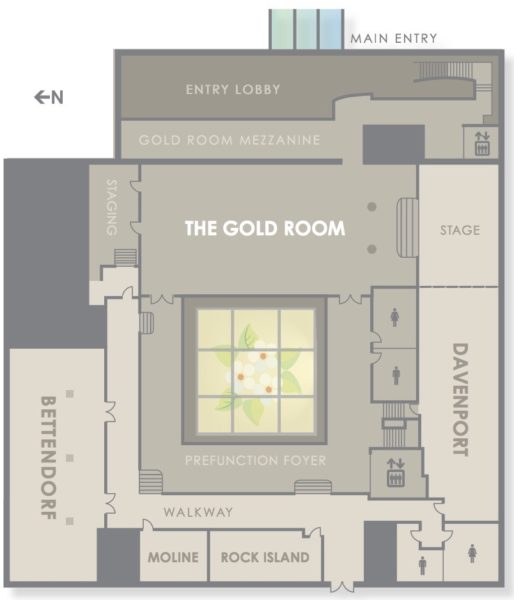 Hotel Blackhawk event room layout